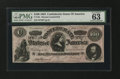 """Confederate Notes:1864 Issues, CT65/491 """"Havana Counterfeit"""" $100 1864. . ..."""