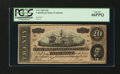 Confederate Notes:1864 Issues, T67 PF-14 Cr. 514 $20 1864.. ...