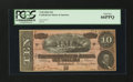 Confederate Notes:1864 Issues, T68 PF-44 Cr. 552 $10 1864.. ...