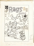 Original Comic Art:Covers, Rags Rabbit #19 Cover Original Art (Harvey, 1954)....