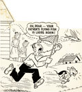 Original Comic Art:Covers, Horace & Dotty Dripple Cover Original Art (Harvey,undated)....