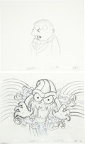 animation art:Production Drawing, The Simpsons Ralph Wiggum Animation Production DrawingOriginal Art Group (Fox, undated).... (Total: 8 Items)