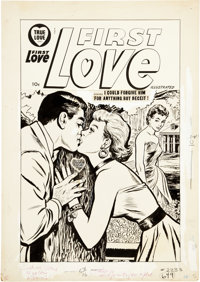 First Love Illustrated Cover Original Art (Harvey, 1958)