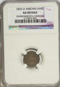 Seated Half Dimes: , 1853-O H10C Arrows--Environmental Damage--NGC. AU Details. NGCCensus: (3/65). PCGS Population (5/66). Mintage: 2,200,000. ...