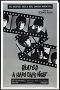 "Movie Posters:Rock and Roll, A Hard Day's Night (United Artists, R-1982). One Sheet (27"" X 41"").Rock and Roll.. ..."