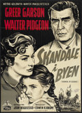 "Movie Posters:Drama, Scandal at Scourie (MGM, 1953). Danish Poster (24.5"" X 33.5"""").Drama.. ..."
