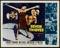 "Movie Posters:Crime, Seven Thieves (20th Century Fox, 1959). Half Sheet (22"" X 28"").Crime.. ..."