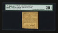 Colonial Notes:Rhode Island, Rhode Island May 22, 1777 $1/18 PMG Very Fine 20 Net....