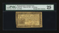 Colonial Notes:Pennsylvania, Pennsylvania March 16, 1785 15s PMG Very Fine 25....