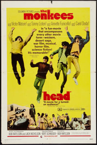 """Head (Columbia, 1968). One Sheet (27"""" X 41""""). Rock and Roll"""