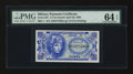 Military Payment Certificates:Series 651, Series 651 First Printing 5¢ PMG Choice Uncirculated 64 EPQ....