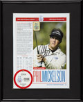 Autographs:Photos, Phil Mickelson and Justin Leonard Colonial Signed Lot of 2....