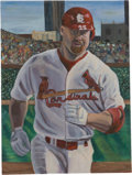 Baseball Collectibles:Others, Mark McGwire Original Oil Painting...
