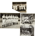 Baseball Collectibles:Photos, Circa 1930's New York Yankees Original Photograph Lot of 4....(Total: 4 items)