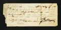 Colonial Notes:Continental Congress Issues, Bill of Exchange Third Bill £100 May 27, 1786 Signed by RobertMorris Very Fine....