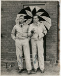 Golf Collectibles:Autographs, Circa 1939 Richard Burton & Henry Cotton Signed Photograph....