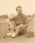 Golf Collectibles:Autographs, Circa 1940 Jimmy Demaret Signed Photograph....