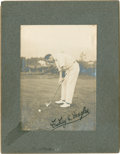 Golf Collectibles:Autographs, Circa 1920 Findlay Douglas Signed Photograph....