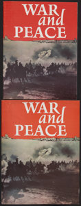 """Movie Posters:Drama, War and Peace (Continental, 1968). Programs (2) (8.5"""" X 11"""") and(9"""" X 12""""). Drama.. ... (Total: 2 Items)"""