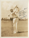 Golf Collectibles:Autographs, 1934 Olin Dutra Signed Photograph....