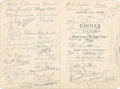 Golf Collectibles:Autographs, 1926 Robert A. Gardner & More Signed Menu....