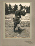 Golf Collectibles:Autographs, Circa 1920 Harold H. Hilton Signed Photograph....