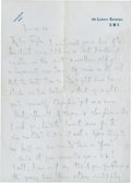 Golf Collectibles:Autographs, 1924 Horace Hutchinson Handwritten Signed Letter to JH Taylor....