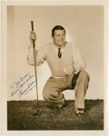 Golf Collectibles:Autographs, Circa 1940 Lawson Little Signed Photograph....