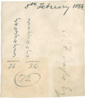 Golf Collectibles:Autographs, 1894 A.F. MacFie Signed Scorecard....