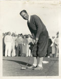 Golf Collectibles:Autographs, 1920's Willie Macfarlane Signed Photograph....