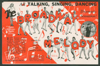 The Broadway Melody (MGM, 1929). Heralds (2) (Various Sizes). Musical. ... (Total: 2 Items)