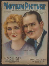 "Motion Picture Magazine (Brewster, 1924). Magazine (Multiple Pages) (8.5"" X 11.5""). Miscellaneous"