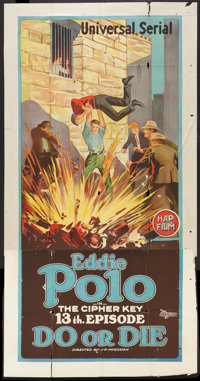 "Do or Die (Universal, 1921). Three Sheet (41"" X 81""). Episode 13 -- ""The Cipher Key."" Serial"