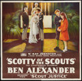 "Movie Posters:Serial, Scotty of the Scouts (Rayart Pictures, 1926). Six Sheet (81"" X 81"") Chapter Ten-- ""Scout Justice."" Serial.. ..."