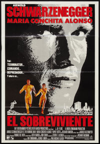 "The Running Man (Blanco & Travicso, 1987). Venezuelan One Sheet (26"" X 37.5""). Action"