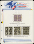 Stamps, U.S. Mint Block Collection, 1919-72,... (Total: 1 Album)