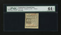 Colonial Notes:Connecticut, Connecticut October 11, 1777 7d Slash Cancel PMG Choice Uncirculated 64 EPQ....