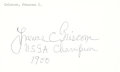 Golf Collectibles:Autographs, 1960's Frances Griscom Signed Index Card....