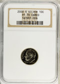 Proof Roosevelt Dimes, (4)2000-S (10C) Silver PF 70 Cameo NGC. ... (Total: 4 coins)