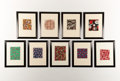 Fine Art - Work on Paper:Drawing, BIANCHINI FERRIER. A Set of Nine Fabric Designs, circa 1930-1940.25 x 19-1/4 inches (63.5 x 48.9 cm) each. ...