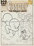 Original Comic Art:Covers, Casper the Friendly Ghost #48 Cover Original Art (Harvey,1956)....