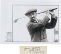 Golf Collectibles:Autographs, 1910's Jean Gassiat Signed Cut Signature....