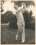 "Golf Collectibles:Autographs, 1933 Densmore ""Denny"" Shute Signed Photograph...."