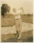 Golf Collectibles:Autographs, 1930's Horton Smith Signed Photograph....