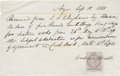 Golf Collectibles:Autographs, 1865 Andrew Strath Handwritten Signed Wage Receipt....