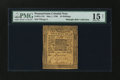 Colonial Notes:Pennsylvania, Pennsylvania May 1, 1760 10s PMG Choice Fine 15 Net....