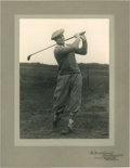 Golf Collectibles:Autographs, 1920's Jess Sweetser Signed Photograph....