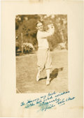 Golf Collectibles:Autographs, 1920's Cyril Walker Signed Photograph....