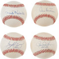 Autographs:Baseballs, Hall of Fame Pitchers Signed Baseball Lot of 4.... (Total: 4 items)