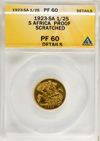 South Africa: George V gold 1/2 Sovereign 1923-SA